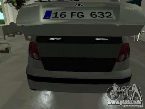 Hyundai Getz para vista lateral GTA San Andreas