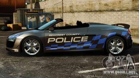 Audi R8 GT Spyder 2012 para GTA 4 left