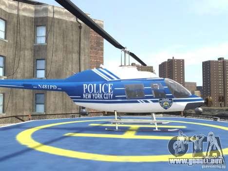 Bell 206 B - NYPD para GTA 4 left