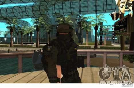 Las fuerzas especiales Berkrut para GTA San Andreas