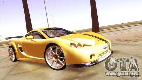 Ascari A10 para GTA San Andreas vista hacia atrás
