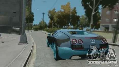 Bugatti Veyron 16.4 Super Sport para GTA 4 vista hacia atrás