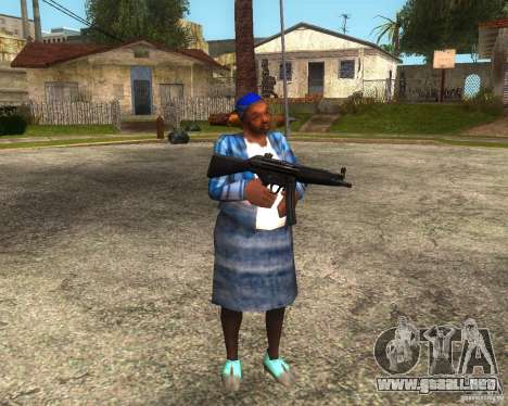 Gangsta Granny para GTA San Andreas sucesivamente de pantalla