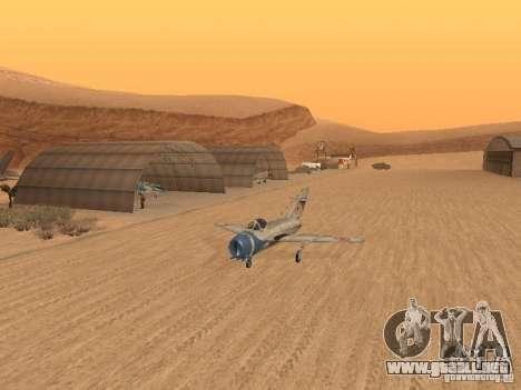 MiG 15 con armas para visión interna GTA San Andreas