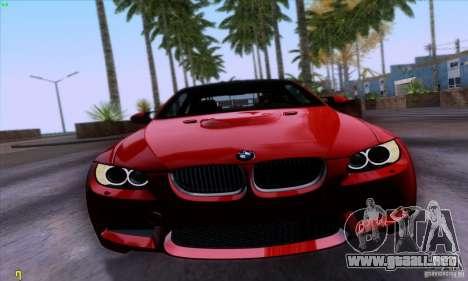 BMW M3 E92 v1.0 para GTA San Andreas vista posterior izquierda