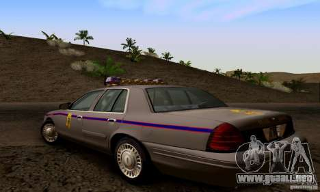 Ford Crown Victoria Mississippi Police para GTA San Andreas left