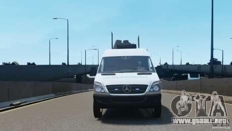 Mercedes-Benz Sprinter-Identification Criminelle para GTA 4 vista interior