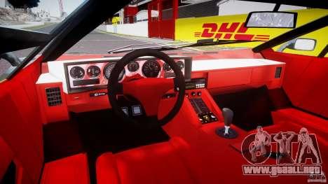 Lamborghini Countach v1.1 para GTA 4 vista hacia atrás