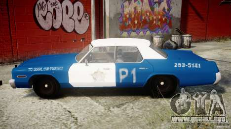 Dodge Monaco 1974 (bluesmobile) para GTA 4 left