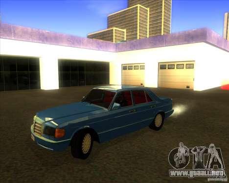 Mercedes-Benz 500SE 1985 para visión interna GTA San Andreas