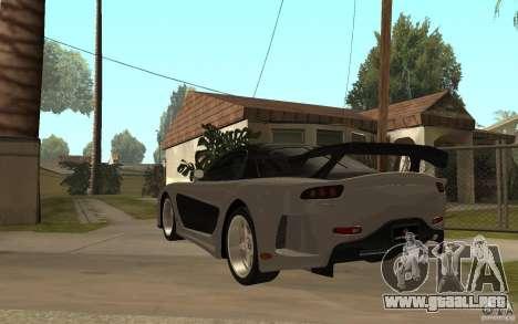 Mazda RX 7 VeilSide Fortune v.2.0 para GTA San Andreas vista posterior izquierda