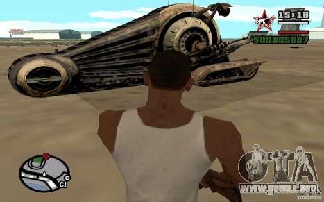 Alliance Tank Droid para GTA San Andreas vista posterior izquierda