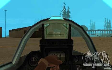 MiG-23 a los Flogger para visión interna GTA San Andreas