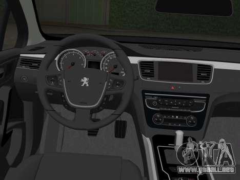 Peugeot 508 e-HDi 2011 para GTA Vice City vista lateral izquierdo