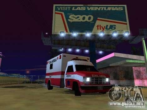 Ambulance 1987 San Andreas para GTA San Andreas vista posterior izquierda