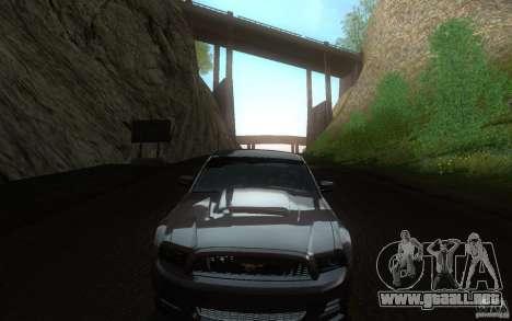 Ford Mustang GT V6 2011 para visión interna GTA San Andreas
