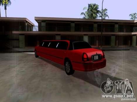 Lincoln Towncar 2010 para la visión correcta GTA San Andreas