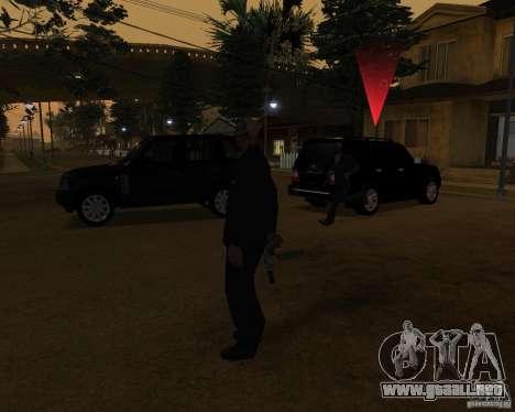 Protección en un jeep para GTA San Andreas segunda pantalla