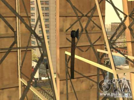 Hacha para GTA San Andreas tercera pantalla