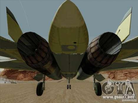T-50 Pak Fa para GTA San Andreas interior