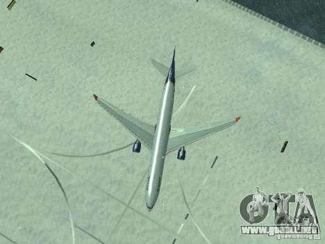 El Airbus A330-300 Aeroflot para la vista superior GTA San Andreas