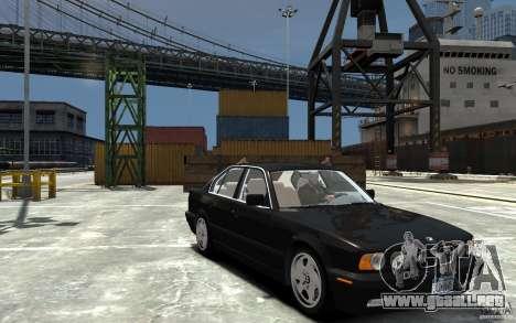 BMW 540i E34 v3.0 para GTA 4 vista hacia atrás