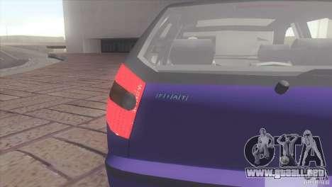 Fiat Palio 16v para GTA San Andreas vista posterior izquierda