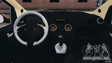 Ford Ka 2011 para GTA 4 vista hacia atrás