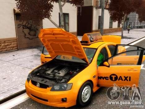 Holden NYC Taxi para GTA 4 vista interior
