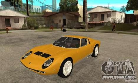 Lamborghini Miura 1966 para GTA San Andreas
