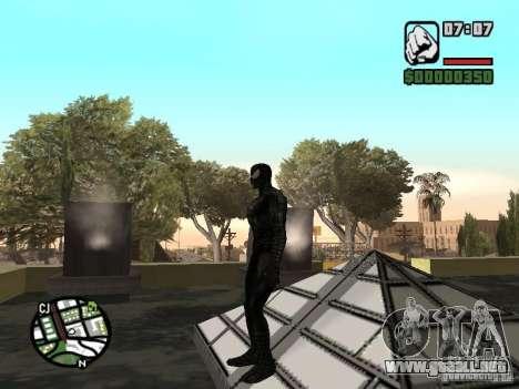 Enemigo del hombre araña en la reflexión para GTA San Andreas sucesivamente de pantalla