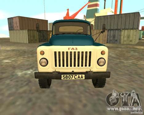 CAMIÓN GAZ 53-12-3 para la visión correcta GTA San Andreas