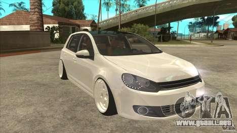Volkswagen Golf VI 2010 Stance Nation para GTA San Andreas vista hacia atrás