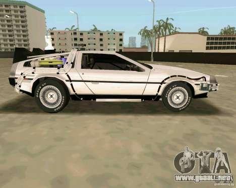 BTTF DeLorean DMC 12 para GTA Vice City vista lateral