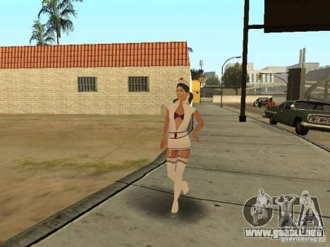 Girlz Medic in Grove para GTA San Andreas