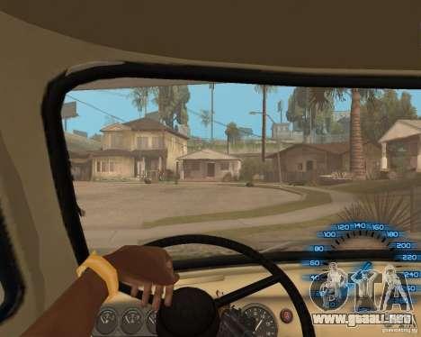 Detrás del volante para GTA San Andreas segunda pantalla