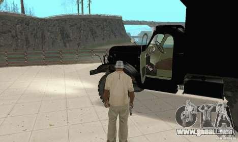 ZIL 157 para GTA San Andreas vista hacia atrás