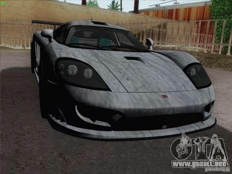 Saleen S7 Twin Turbo Competition Custom para vista inferior GTA San Andreas