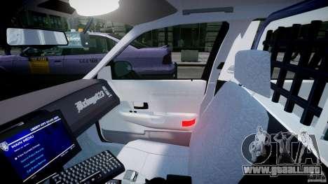 Ford Crown Victoria Fl Highway Patrol Units ELS para GTA 4 vista hacia atrás