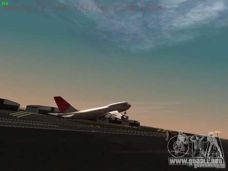 Boeing 747-446 Japan-Airlines para vista inferior GTA San Andreas