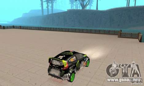 Ford Fiesta 2011 Ken Blocks para GTA San Andreas left