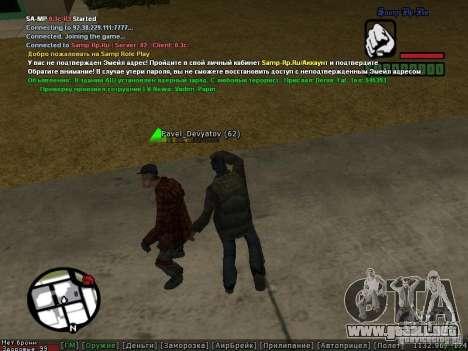 m0d S0beit 4.3.0.0 Full rus para GTA San Andreas séptima pantalla