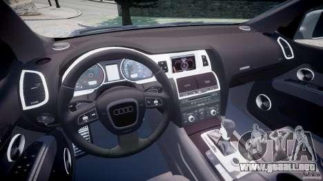 Audi Q7 V12 TDI Quattro Stock  v2.0 para GTA 4 vista hacia atrás