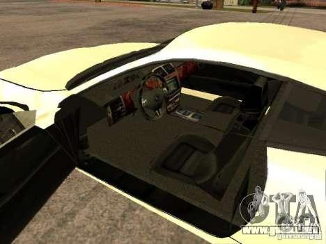 Jaguar XK para GTA San Andreas vista posterior izquierda