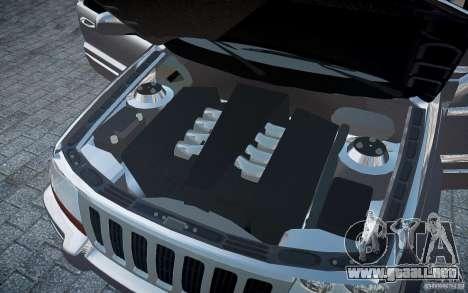 Jeep Grand Cheroke para GTA 4 interior