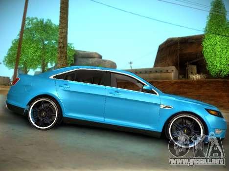 Ford Taurus SHO 2011 para GTA San Andreas vista hacia atrás