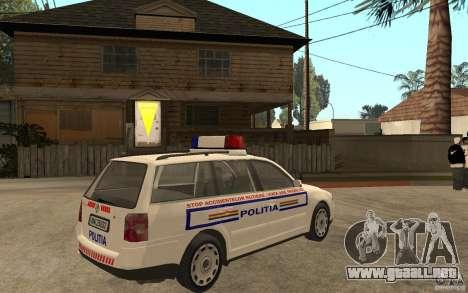 VW Passat B5+ Variant Politia Romana para la visión correcta GTA San Andreas