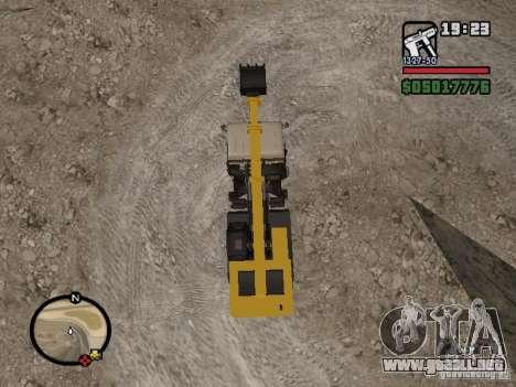 Kamaz UDS para GTA San Andreas vista hacia atrás