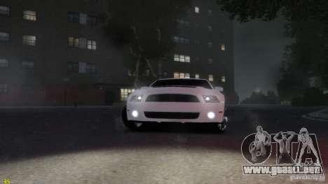 Ford Shelby Mustang GT500 2011 v2.0 para GTA 4 vista hacia atrás