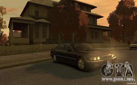 BMW 750iL (E38) v.3 para GTA 4 vista hacia atrás